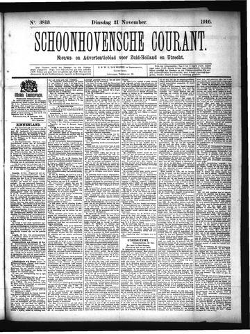 Schoonhovensche Courant 1916-11-21