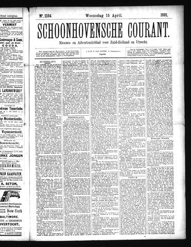 Schoonhovensche Courant 1891-04-15