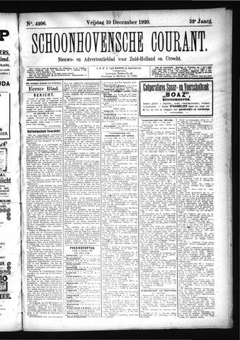 Schoonhovensche Courant 1920-12-10