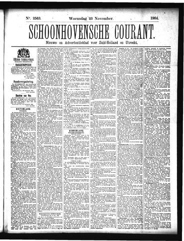 Schoonhovensche Courant 1904-11-23