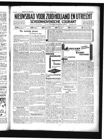 Schoonhovensche Courant 1934-08-03