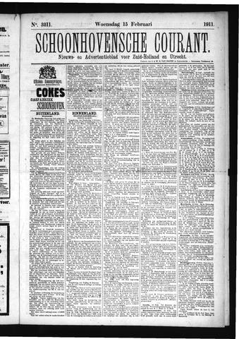 Schoonhovensche Courant 1911-02-15