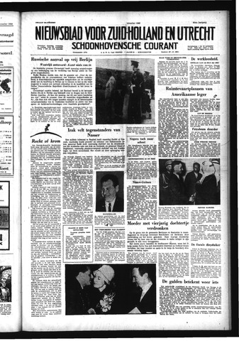 Schoonhovensche Courant 1958-11-12