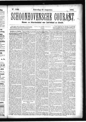 Schoonhovensche Courant 1894-08-25