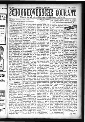 Schoonhovensche Courant 1923-04-23