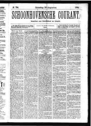 Schoonhovensche Courant 1884-08-30