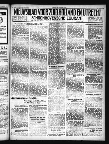 Schoonhovensche Courant 1940-11-22