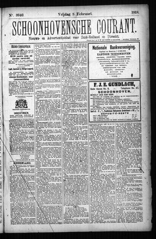 Schoonhovensche Courant 1918-02-08