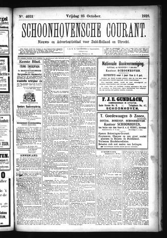 Schoonhovensche Courant 1918-10-25