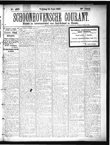 Schoonhovensche Courant 1921-06-24