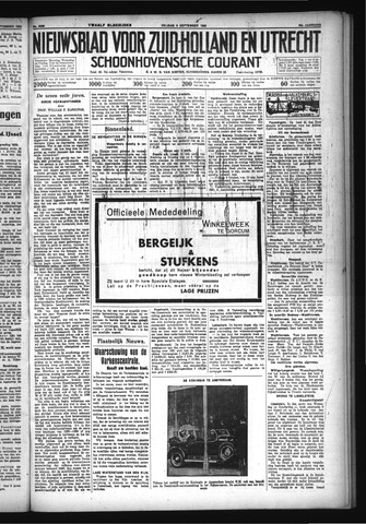Schoonhovensche Courant 1932-09-09