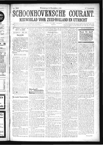 Schoonhovensche Courant 1925-12-16