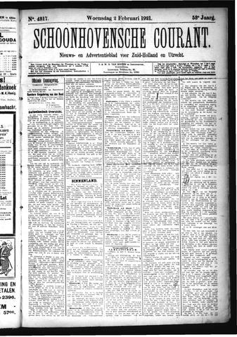 Schoonhovensche Courant 1921-02-02