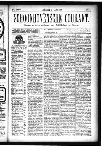 Schoonhovensche Courant 1915-10-05