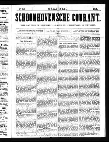 Schoonhovensche Courant 1874-05-10