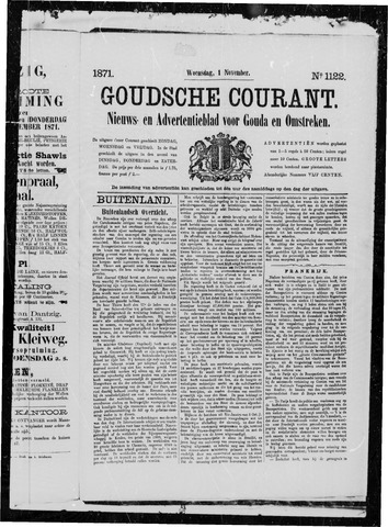 Goudsche Courant 1871-11-01