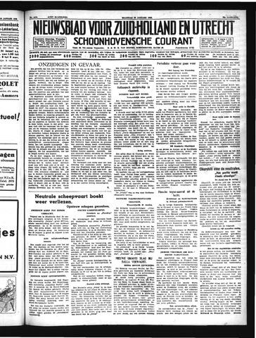 Schoonhovensche Courant 1940-01-22