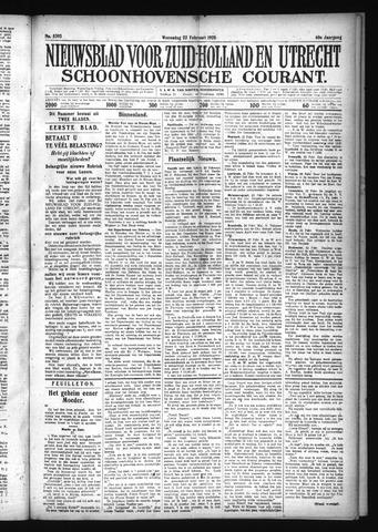 Schoonhovensche Courant 1928-02-22
