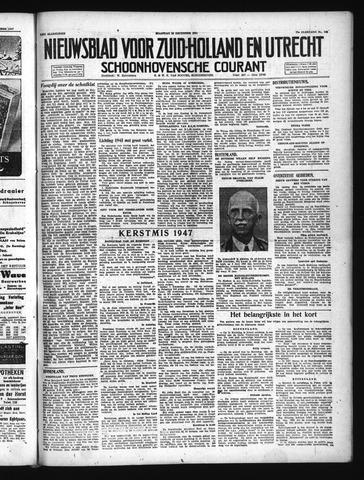 Schoonhovensche Courant 1947-12-29