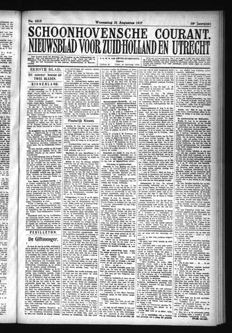 Schoonhovensche Courant 1927-08-31