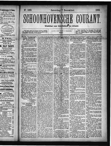 Schoonhovensche Courant 1889-12-07
