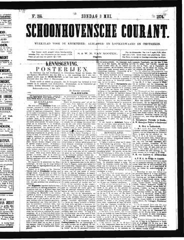Schoonhovensche Courant 1874-05-03