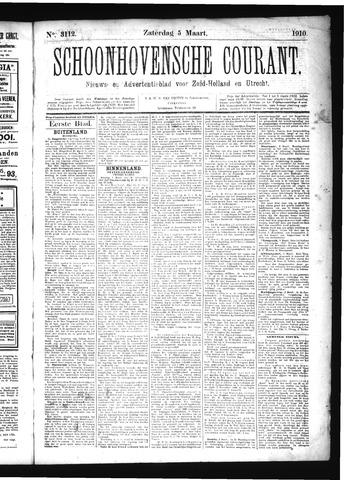 Schoonhovensche Courant 1910-03-05