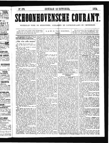 Schoonhovensche Courant 1874-10-18