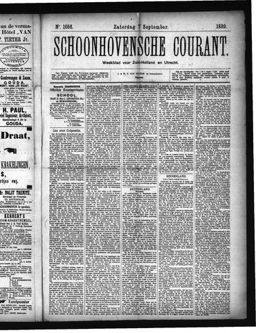 Schoonhovensche Courant 1889-09-07