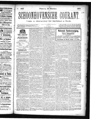 Schoonhovensche Courant 1917-10-16