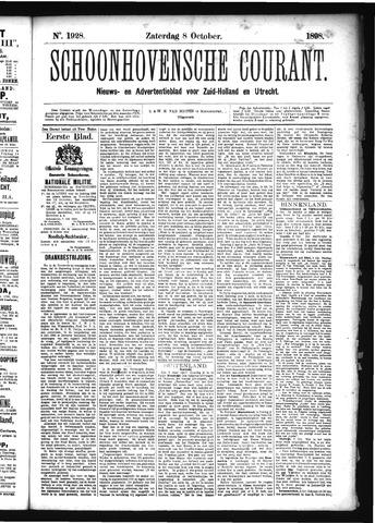 Schoonhovensche Courant 1898-10-08