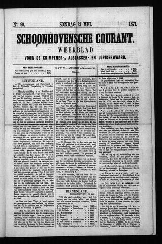 Schoonhovensche Courant 1871-05-21