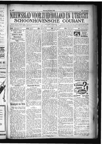 Schoonhovensche Courant 1929-03-18