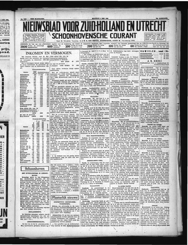 Schoonhovensche Courant 1938-05-09