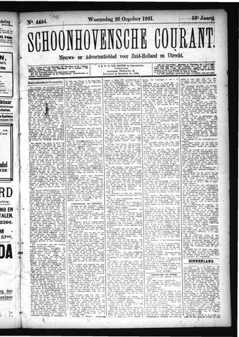 Schoonhovensche Courant 1921-10-26