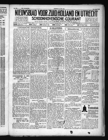 Schoonhovensche Courant 1938-06-15