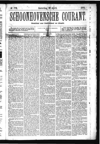 Schoonhovensche Courant 1884-04-26