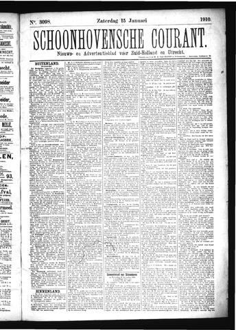 Schoonhovensche Courant 1910-01-15