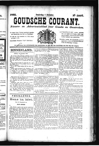 Goudsche Courant 1892-12-01