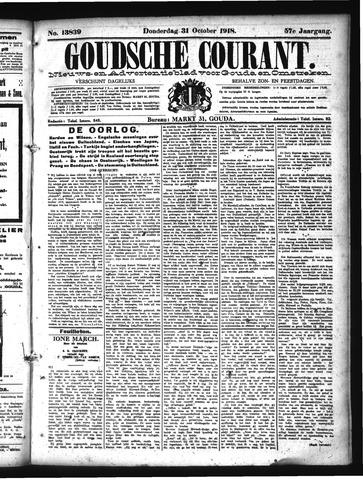 Goudsche Courant 1918-10-31