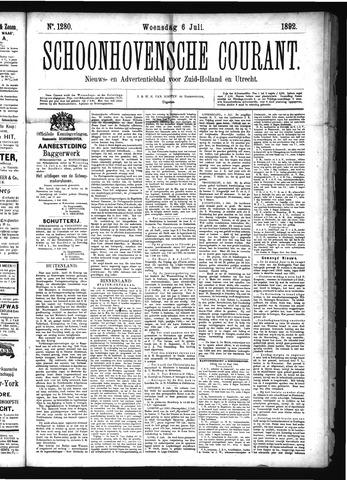 Schoonhovensche Courant 1892-07-06