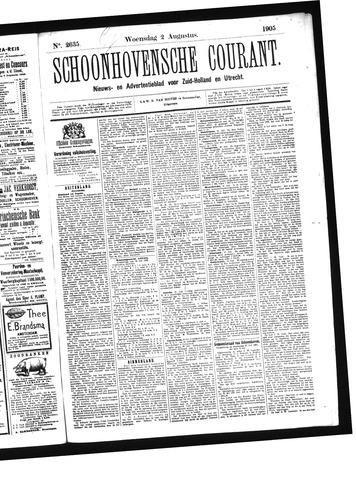 Schoonhovensche Courant 1905-08-02