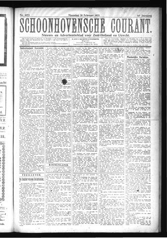 Schoonhovensche Courant 1922-02-20