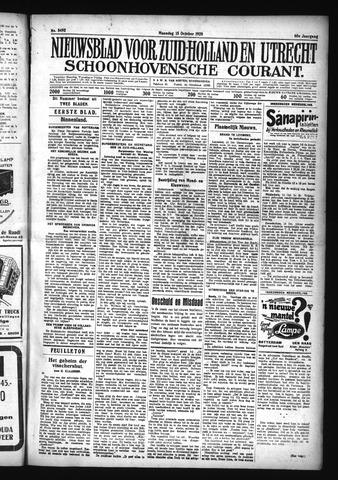 Schoonhovensche Courant 1928-10-15