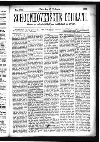 Schoonhovensche Courant 1897-02-27