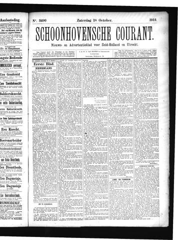 Schoonhovensche Courant 1913-10-18