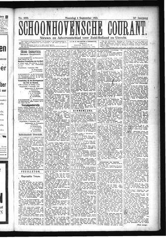 Schoonhovensche Courant 1922-09-04