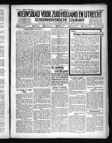 Schoonhovensche Courant 1938-07-08