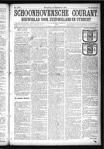 Schoonhovensche Courant 1926-09-15