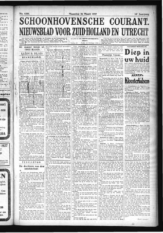 Schoonhovensche Courant 1927-03-21